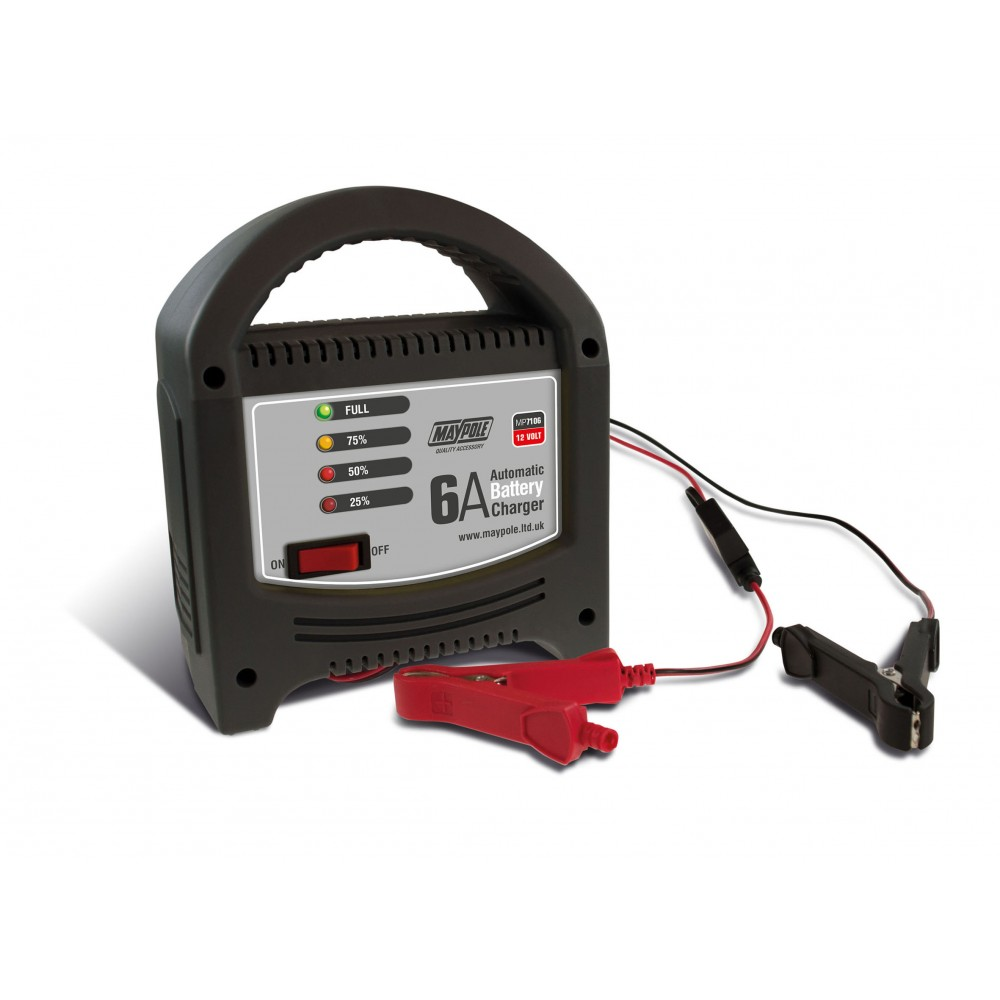 Image for Maypole MP7106 6 Amp/12v Automatic LED Battery Charger