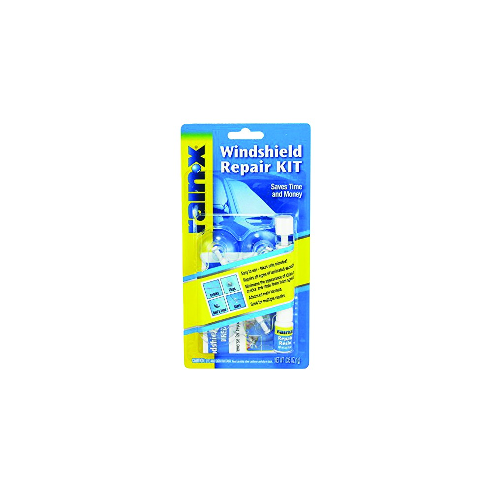 Rain-X F93669 RainX 600001 Windscreen Repair Kit - Blue/Yellow