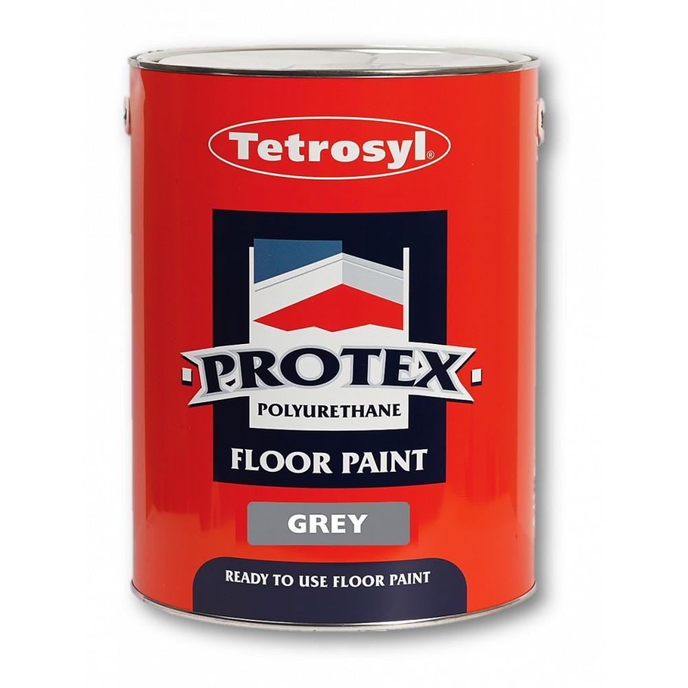 Tetrosyl GYP005 Protex Floor Paint Grey 5L