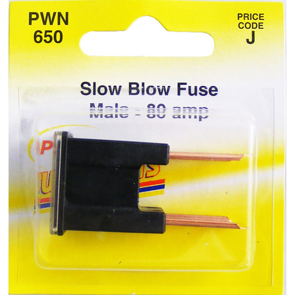 Pearl PWN650 80A Male Slow Blow Fuse