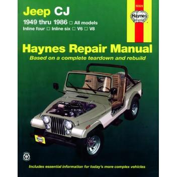 Jeep Wrangler 1987-2017 Haynes USA Workshop Manual